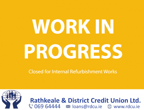 Rathkeale Office Closed For Refurbishment Works 19th – 24th October